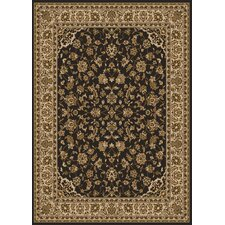 Como Bordered Vines Brown Rug