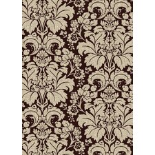 Bella Damask Brown/Pearl Rug
