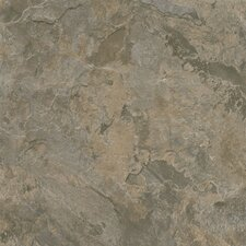 "Alterna Mesa Stone 16"" x 16"" Vinyl Tile in Gray/Brown"