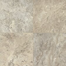 "Alterna Reserve Classico Travertine 16"" x 16"" Vinyl Tile in Blue Mist/Beige"