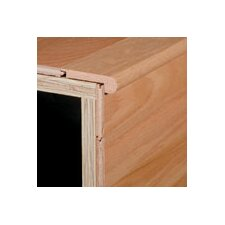 "0.75"" x 3.13"" White Oak Stair Nose in Kona"