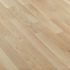 "Fulton Plank 3-1/4"" Solid White Oak Flooring in Winter White"