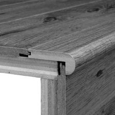 Laminate Overlap Step Micro-Bevel Trim with Track in Hickory, Acacia Sonora