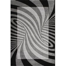 Oasis Waves Black/Grey Rug