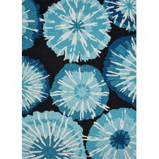 Barcelona Blue Abstract Rug