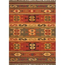 Bedouin Deep Rust Tribal Rug