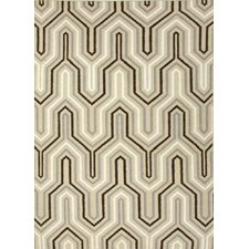 Urban Bungalow Light Gold Geometric Rug