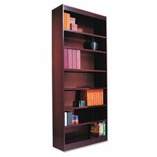 Seven-Shelve Square Corner Bookcase