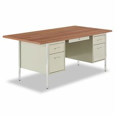 "72"" Double Pedestal Steel Computer Desk"