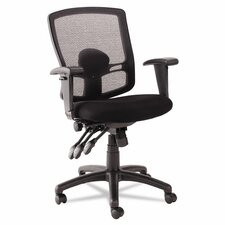 Etros Series Mid-Back Mesh Petite Multifunction Office Chair