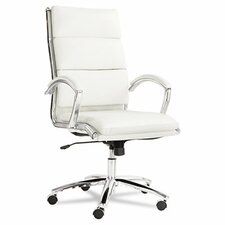High-Back Faux Leather Neratoli Slim Profile Office Chair