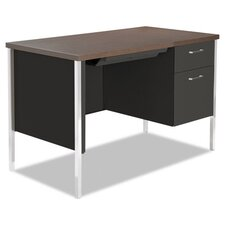 Computer Desk with Single Pedestal