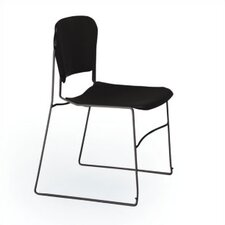 Perry Stack Chair with Black Frame and Black Seat