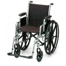 Wheelchair with Detachable Arm, Swing Away Footrest, and Black Upholstery