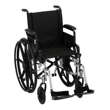 "16"" Lightweight Wheelchair Swing Away Footrest, and Black Nylon Upholstery"