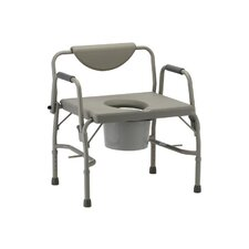 Bariatric Drop-Arm Commode and Extra Wide Seat
