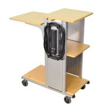 "34.5"" Mobile Presentation Station in Nickel"
