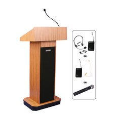 Full-Height Wireless Sound Column Lectern