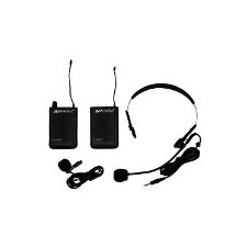 Wireless 16 Channel UHF Lapel and Headset Microphone Replacement Kit