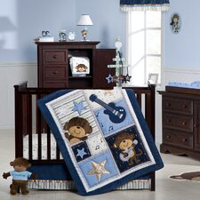 Monkey Rockstar Crib Bedding Collection
