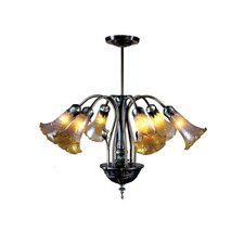 Lilies Favrile 6 Light Chandelier