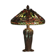 Dragonfly Jewel Tiffany 2 Light Table Lamp