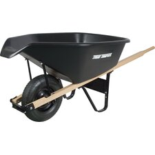 6 Cubic Foot Black Poly Wheelbarrow