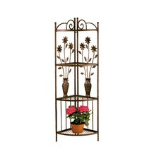 Floral and Vase Corner Bakers Rack