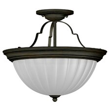 "Interlude 13"" 2 Light Semi Flush Mount"