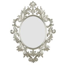 Louis Wall Mirror in Silver Leaf