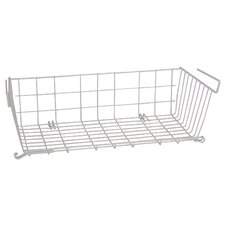 "21"" X 10"" Vinyl Coated Wire Undershelf Storage Basket"