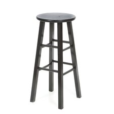 "29"" Roundtop Counter Stool (Black)"