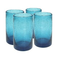 Iris Highball Glass in Turquoise (Set of 4)