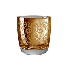 Brocade Double Old Fashioned Glass in Gold (Set of 4)