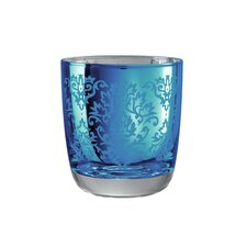 Brocade Double Old Fashioned Glass in Blue (Set of 4)