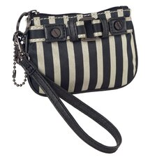 Stripe Mini Wristlet