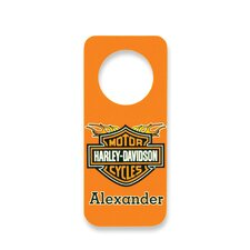 Personalized Harley Davidson Door Hanger