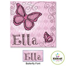 Personalized Butterfly Door Hanger
