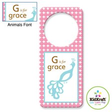 Personalized Girl Animal Door Hanger