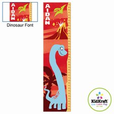 Personalized Dinosaur Red Growth Chart