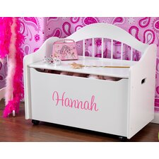 Personalized Limited Edition Toy Box in White