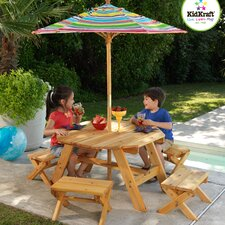 Kids' 5 Piece Table and Stool Set