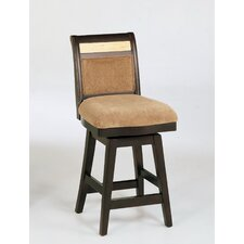 "26"" Counter High Swivel Barstool in Beige Chenille"