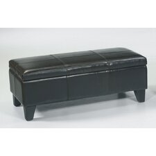 Leather Entryway Storage Ottoman