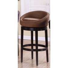 Igloo Microfiber Swivel Barstool in Brown