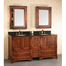"Traditions Milano 72"" Drawer Bridge Bathroom Vanity Set"