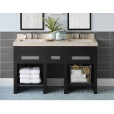 "Kendra 58"" Wood Double Vanity Set"