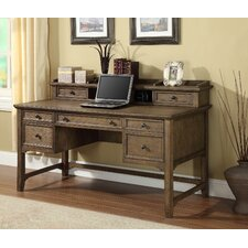 Newberry Writing Computer Desk with 2 Drawers Hutch