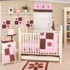 Pam's Petals 10 Piece Crib Bedding Set