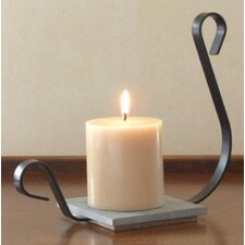 Iron and Wood Aladdin Candle Dish